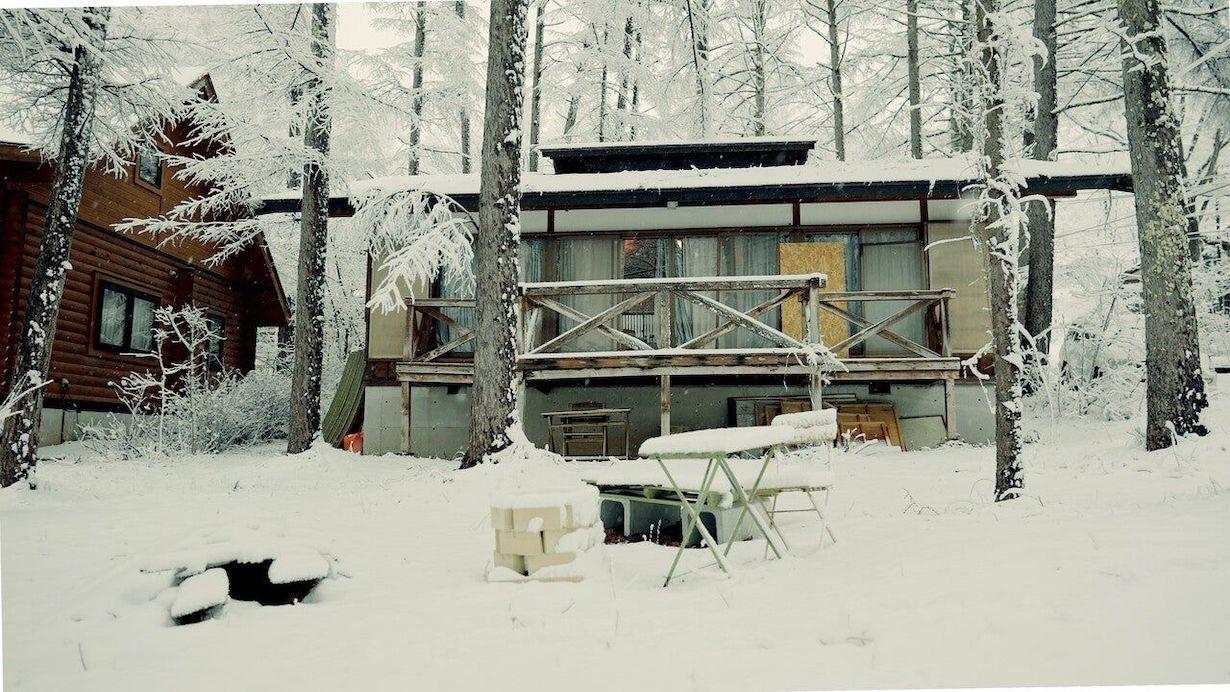 菅谷岳洋さんの別荘の冬の様子