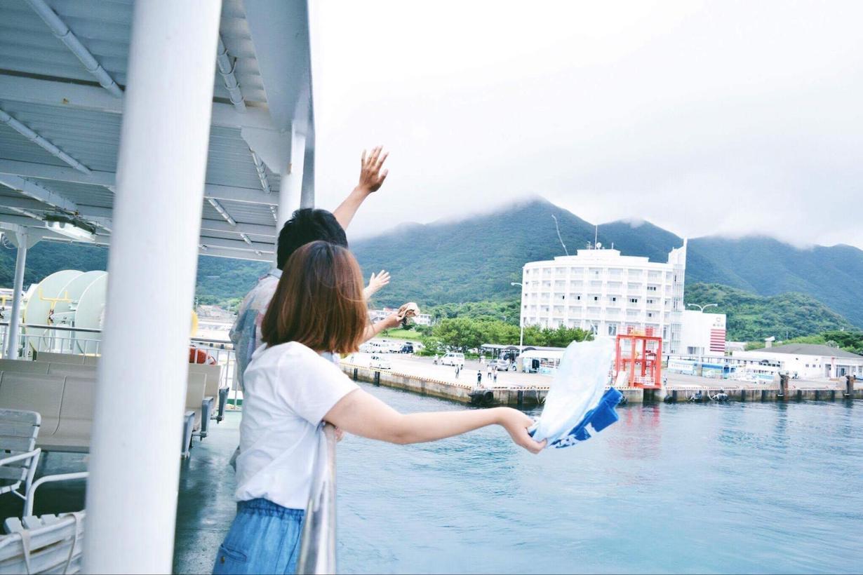 松薗美帆さんと甑島