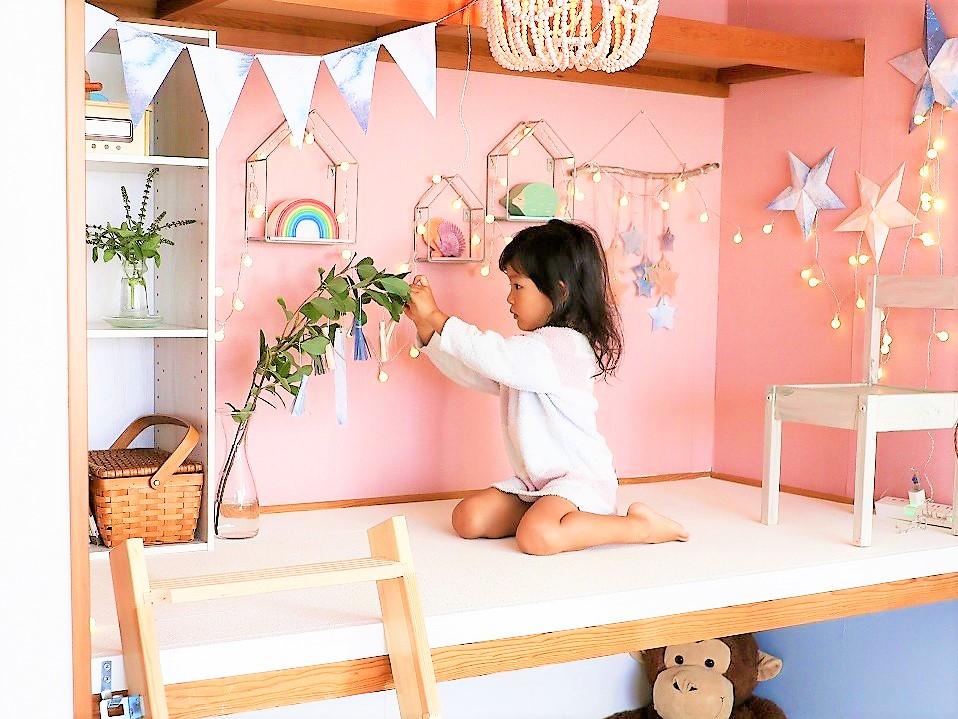 引っ越した家の押入れを、子ども部屋らしくDIYした村上萌さん。タスクを予定に入れ込み、新しい試みを実現している