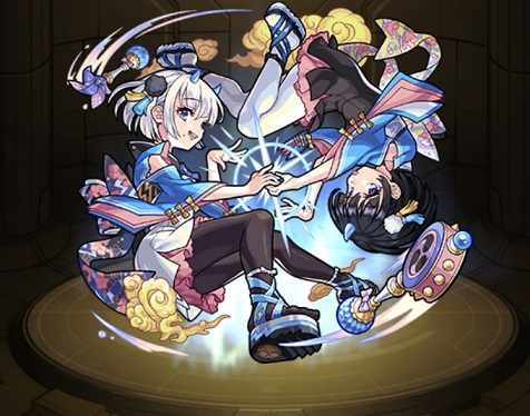 モンスターストライク ゲーム画面 キャラクター 風神雷神