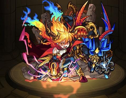 モンスターストライク ゲーム画面 キャラクター ラグナロク