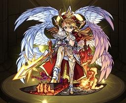 モンスターストライク ゲーム画面 キャラクター ウリエル 地獄