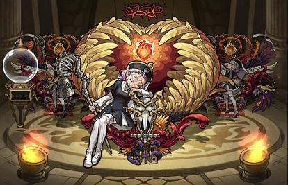 モンスターストライク ゲーム画面 キャラクター ゲヘナ 進化前 神化
