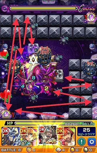モンスターストライク アドゥブタ 究極 攻略 BATTLE 8