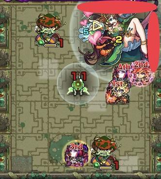 モンスターストライク 英雄の神殿 木 時の間2 BATTLE4