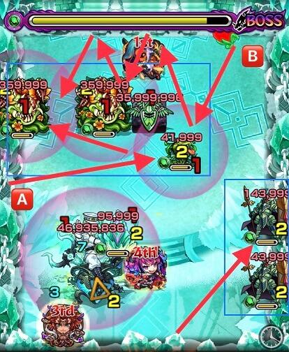 モンスターストライク 爆絶 コキュートス 攻略 BATTLE8