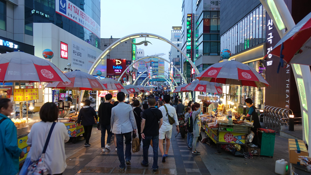 韓国釜山へピーチで行く海鮮店