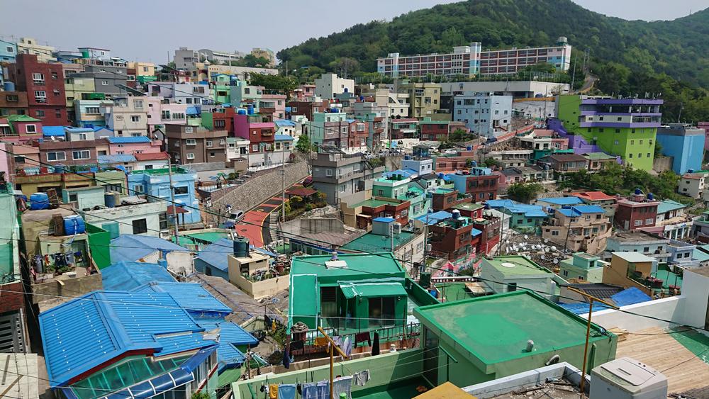 韓国釜山へピーチで行く芸術村