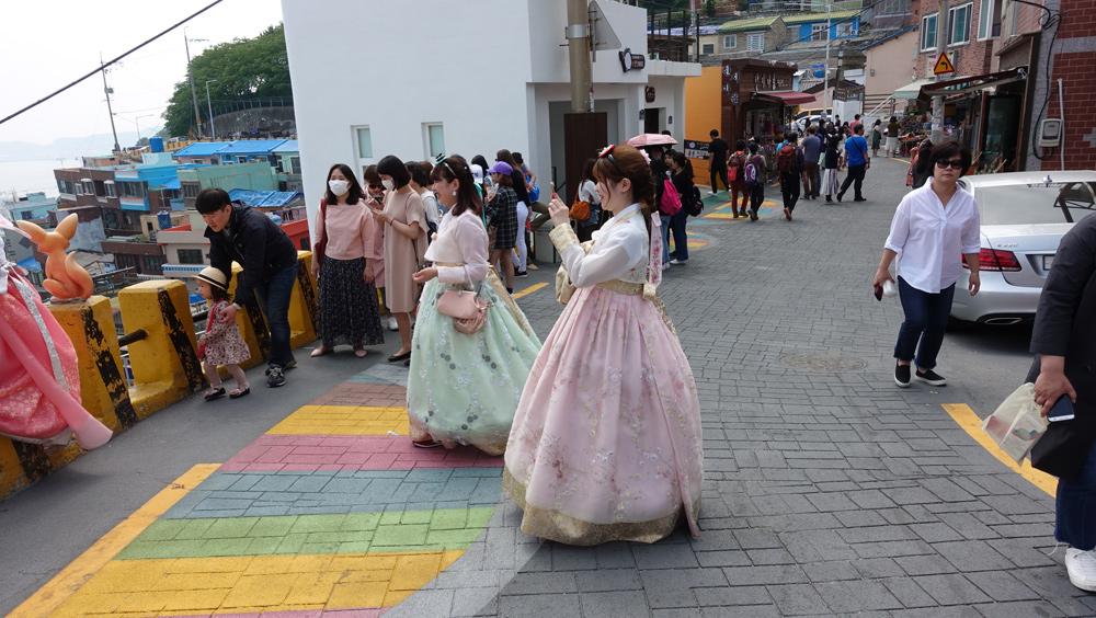 韓国釜山へピーチで行くチョゴリ