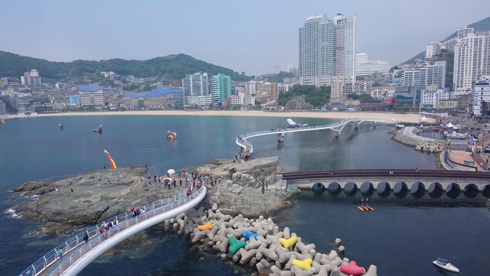 韓国釜山へピーチで行く海岸