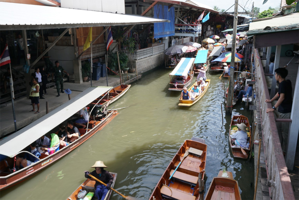 タイ旅行 水上市場