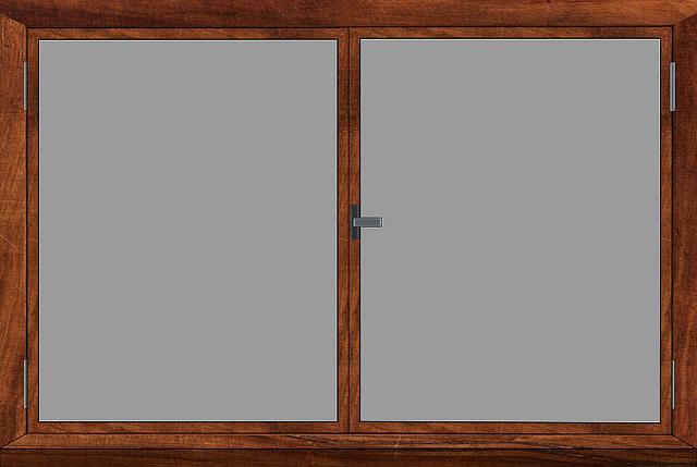 しまっている開き窓