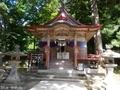 20190716 中野神社の大杉 拝殿(黒石市南中野)