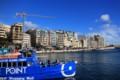 今までが嘘のように、晴れ渡る青空と青い海!