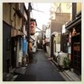 [風景][京都][Hipstamatic][iPhone 4S]木屋町通のひとつ西の裏路地。こういう雰囲気好き。