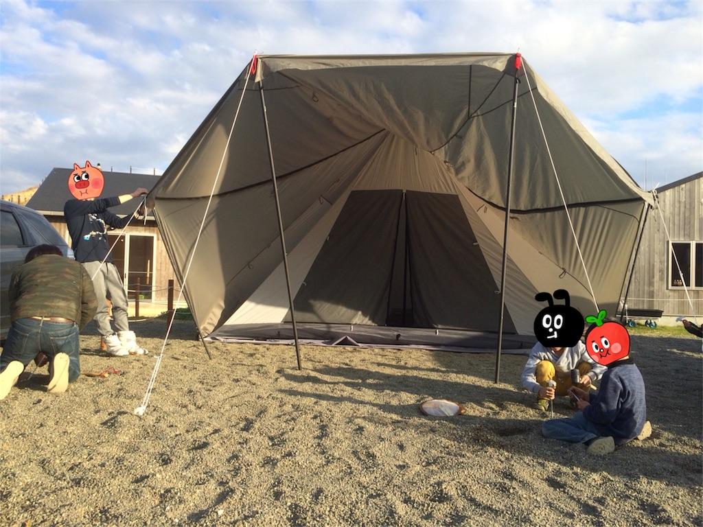 テント ヤドカリ キャンプ&フィッシングの付録:DODヤドカリテントが入荷してます!2ルームワンポールテント!