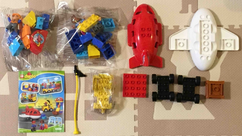 LEGO duplo 10590 レゴ デュプロ のまち くうこう パーツを取り出してみました