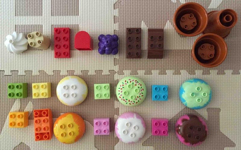 LEGO duplo 10574 レゴ デュプロ アイスクリーム コーンのブロックやクリームやブドウのブロック