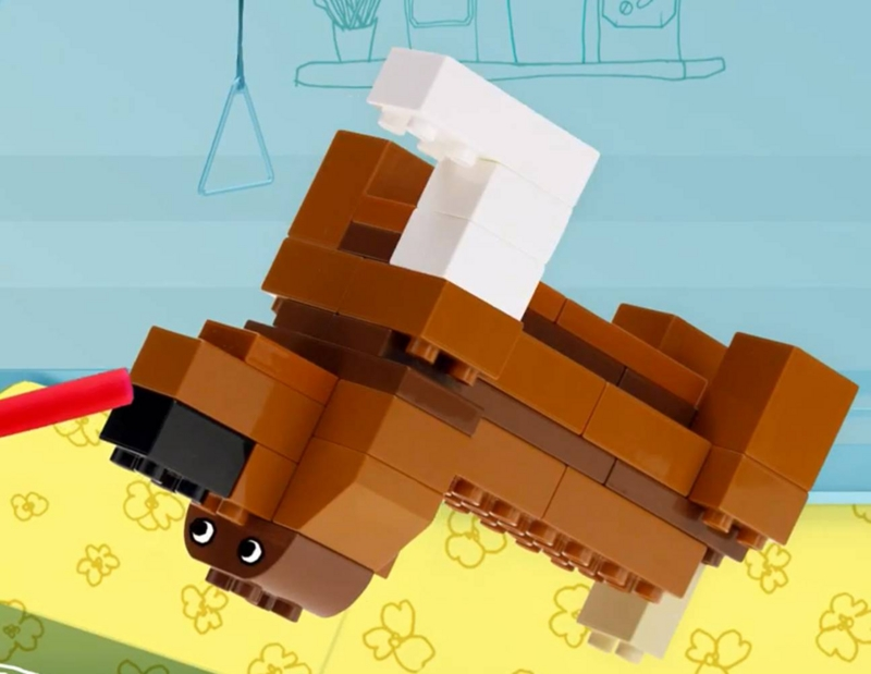 LEGO DUPLO レゴ デュプロ 足をケガして手当を受けたワンちゃん