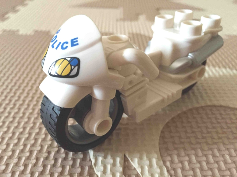 LEGO レゴ デュプロ 白バイ ポリスバイク