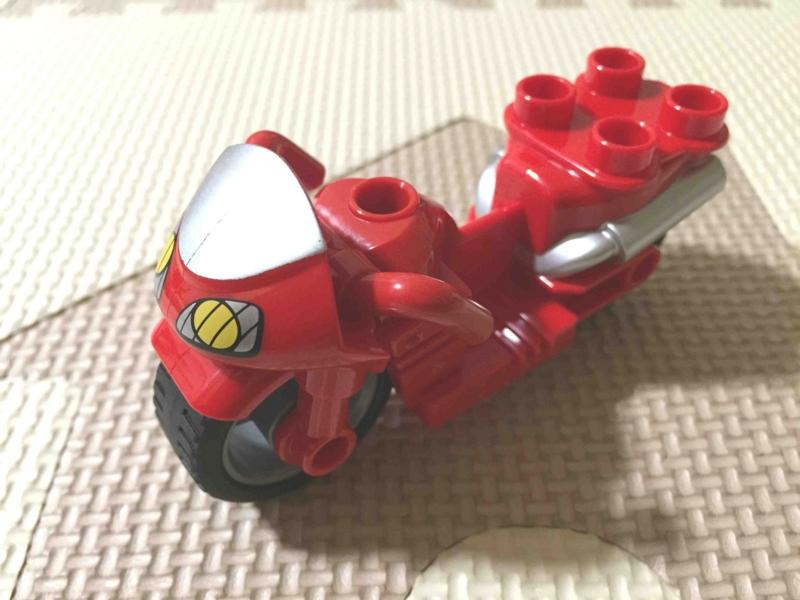 LEGO レゴ デュプロ ポリスセット 赤いバイク