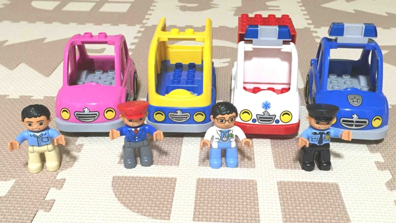 LEGO レゴ デュプロ 店員さん、バスの運転手、お医者さん、おまわりさん