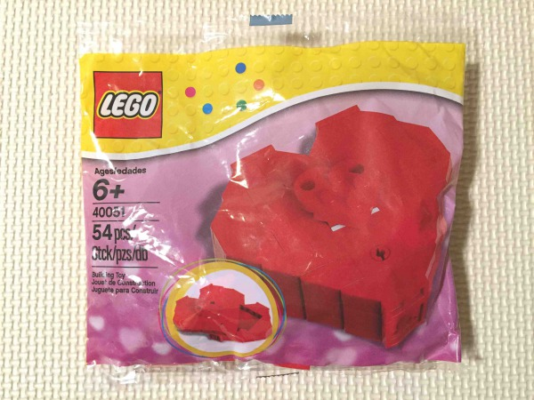 レゴ ハートセット 40004 パッケージ