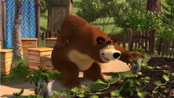 マーシャと熊 Маша и Медведь Masha and the bear 50 ぎっくり腰