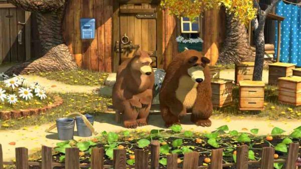 マーシャと熊 Маша и Медведь Masha and the bear 50 落ち込む熊
