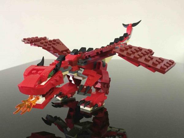 レゴ ファイヤードラゴン 31032 LEGO Red Creatures 完成