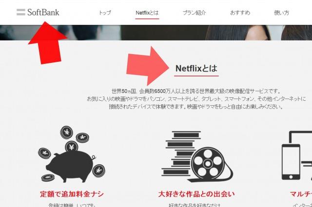 Netflix ソフトバンク 申込み