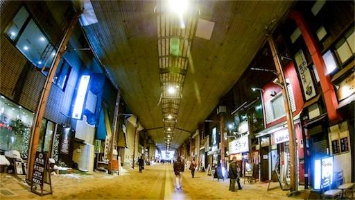 MC2で撮影した札幌狸小路の写真