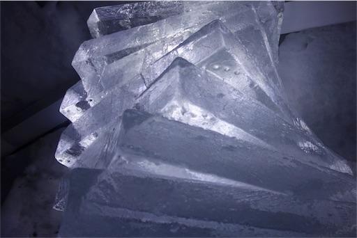 SONY RX100で撮影した氷の塔
