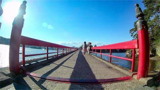 仙台の松島にて撮影した橋
