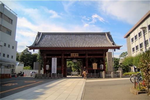 護国寺の門