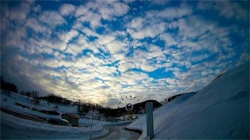 札幌は小樽にてMC2で撮影した羊雲の写真
