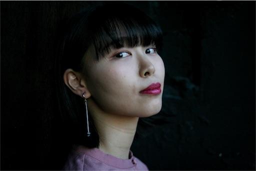 kisetsuのイヤリング「haru ame」の着画