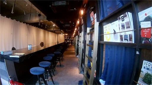 浅草にてMC2で撮影したブックアンドベッド浅草の内装