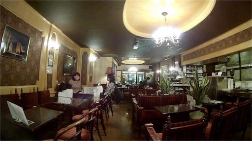 浅草にある喫茶店の内装