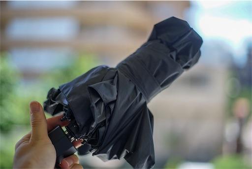折りたたみ日傘TAIKUUの写真