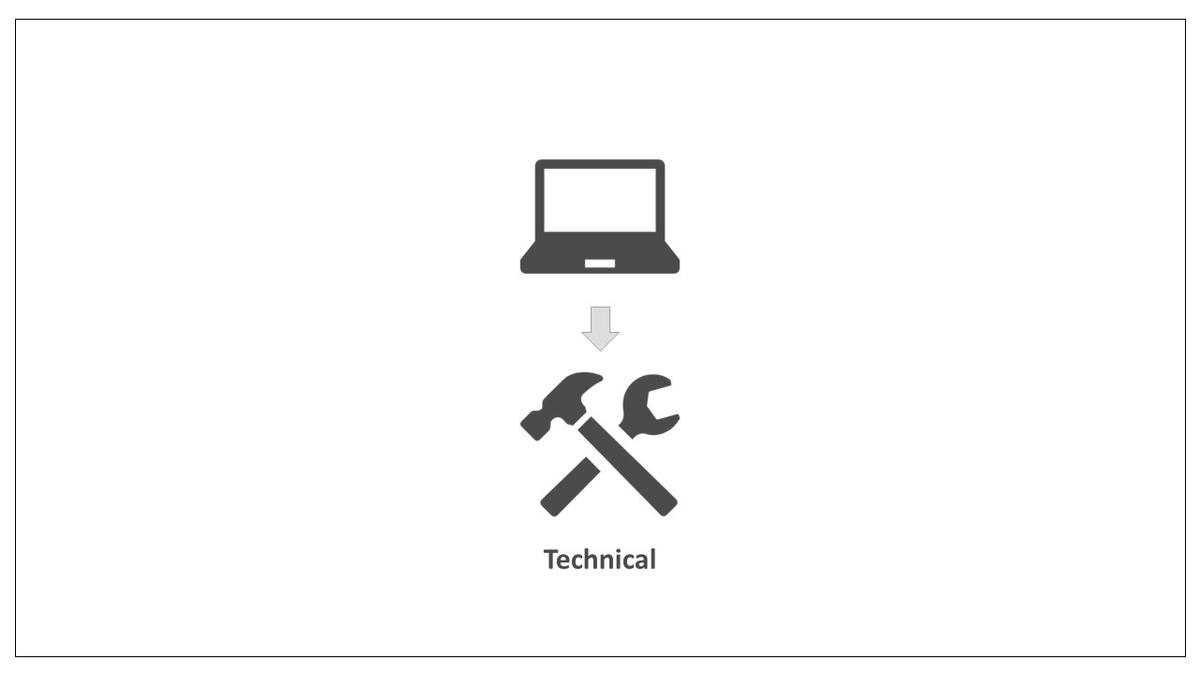 テクニカルSEOについてのイラスト