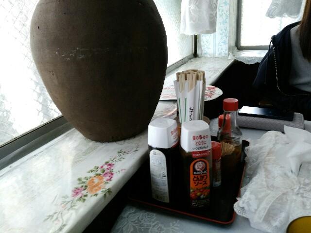 ことぶき食堂のテーブル