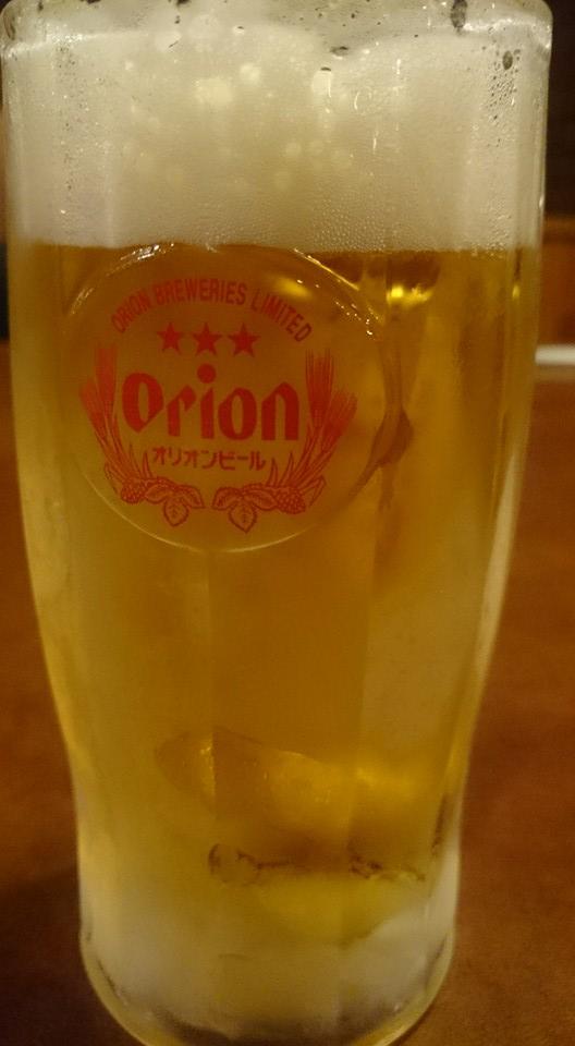 フリッパーで飲んだオリオンビール