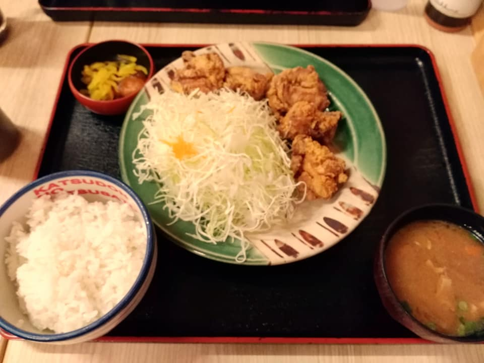 かつさと 沖縄安謝店:から揚げ定食