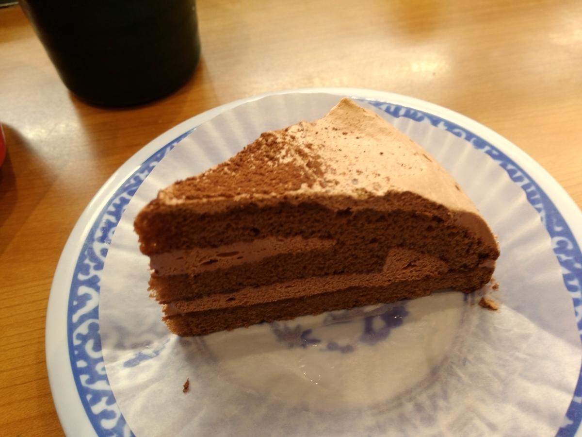 イオンモール沖縄ライカム:くら寿司 チョコレートケーキ