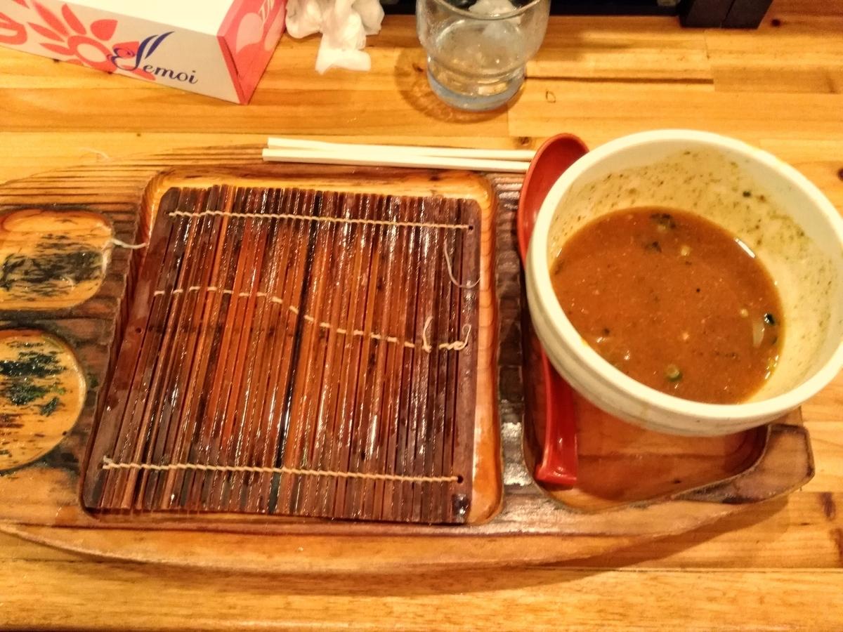 麺場神徳:つけ麺&辛つけ麺完食