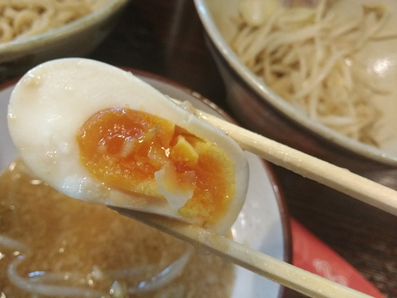 麺道 くろとん:つけG麺デラMAXジャンキー 煮卵