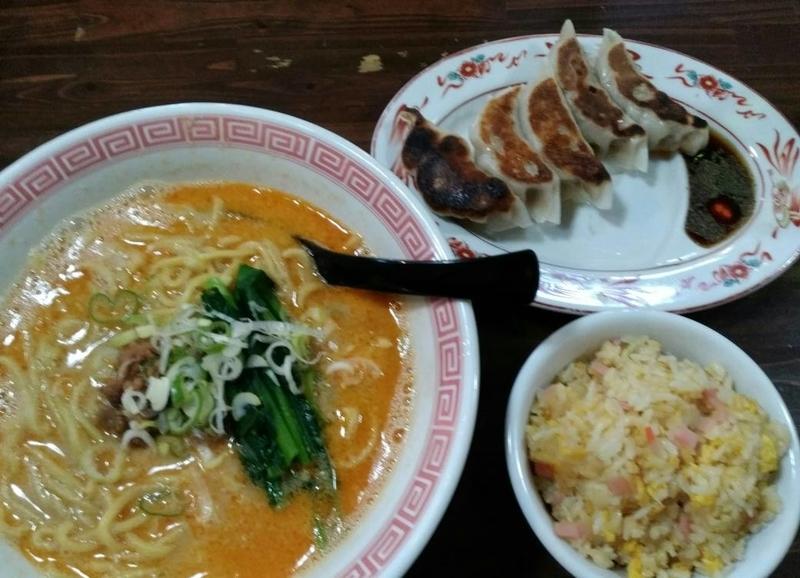 らぁめん空海:担々麺+半チャーハンセット