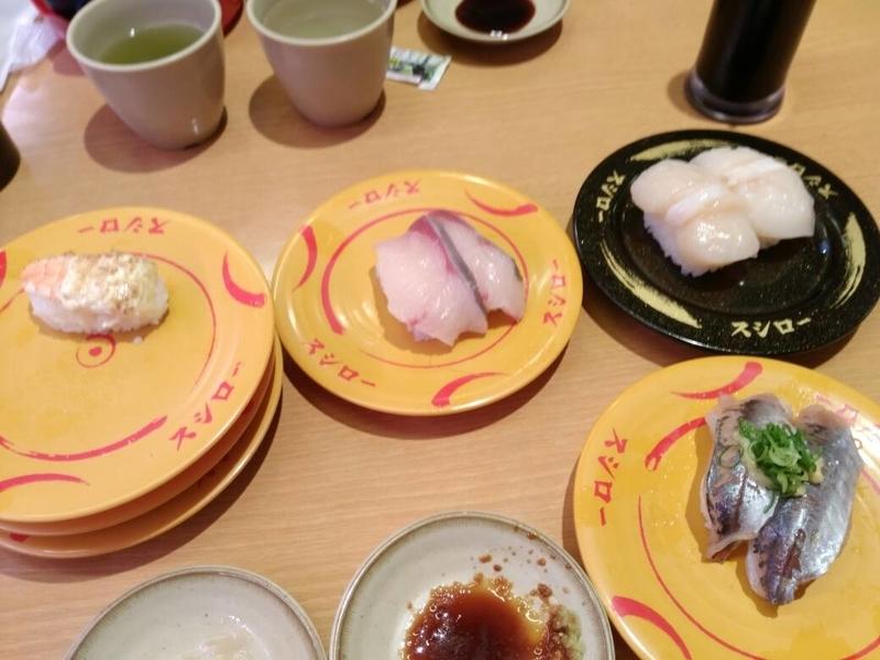 スシロー那覇天久店:お寿司来ました