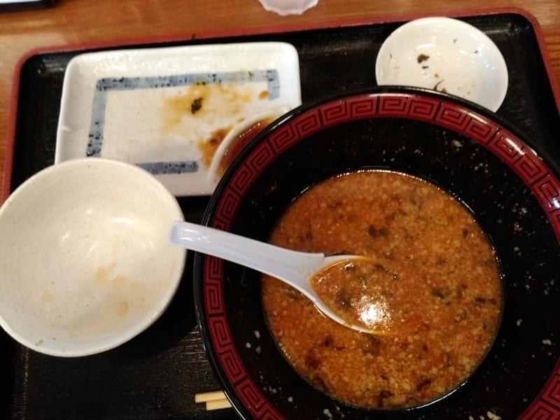 らぁ麺 悠心:辛みそラーメン+ライス餃子セット完食